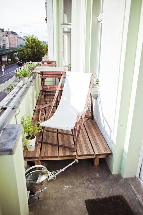 ispirazioni pavimento Patio : Balcone piccolo: 20 idee per arredare /2 Guida Giardino