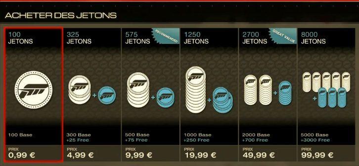 Le microtransazioni di Forza Motorsport 5 sono più convenienti per gli acquisti poco costosi