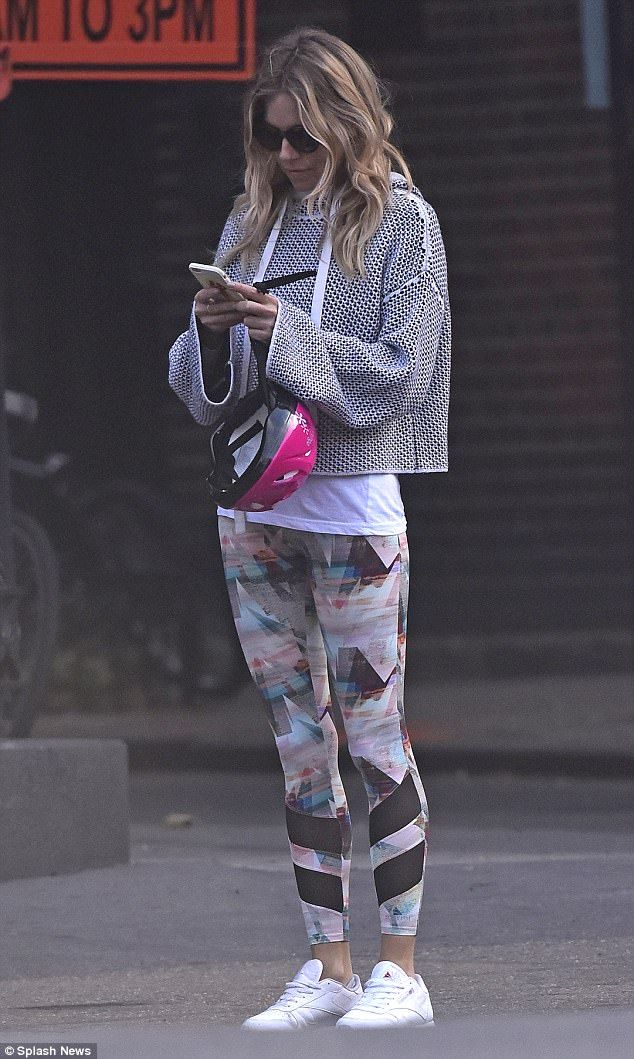 Looking good: Sienna Miller seemed to be relishing her break from the West End as she swap...