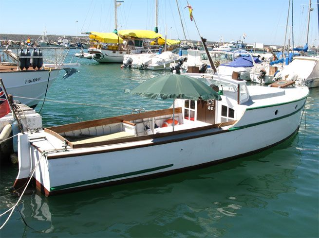 Classic Motor Launch Boat For Sale In Axarquia Costa Del