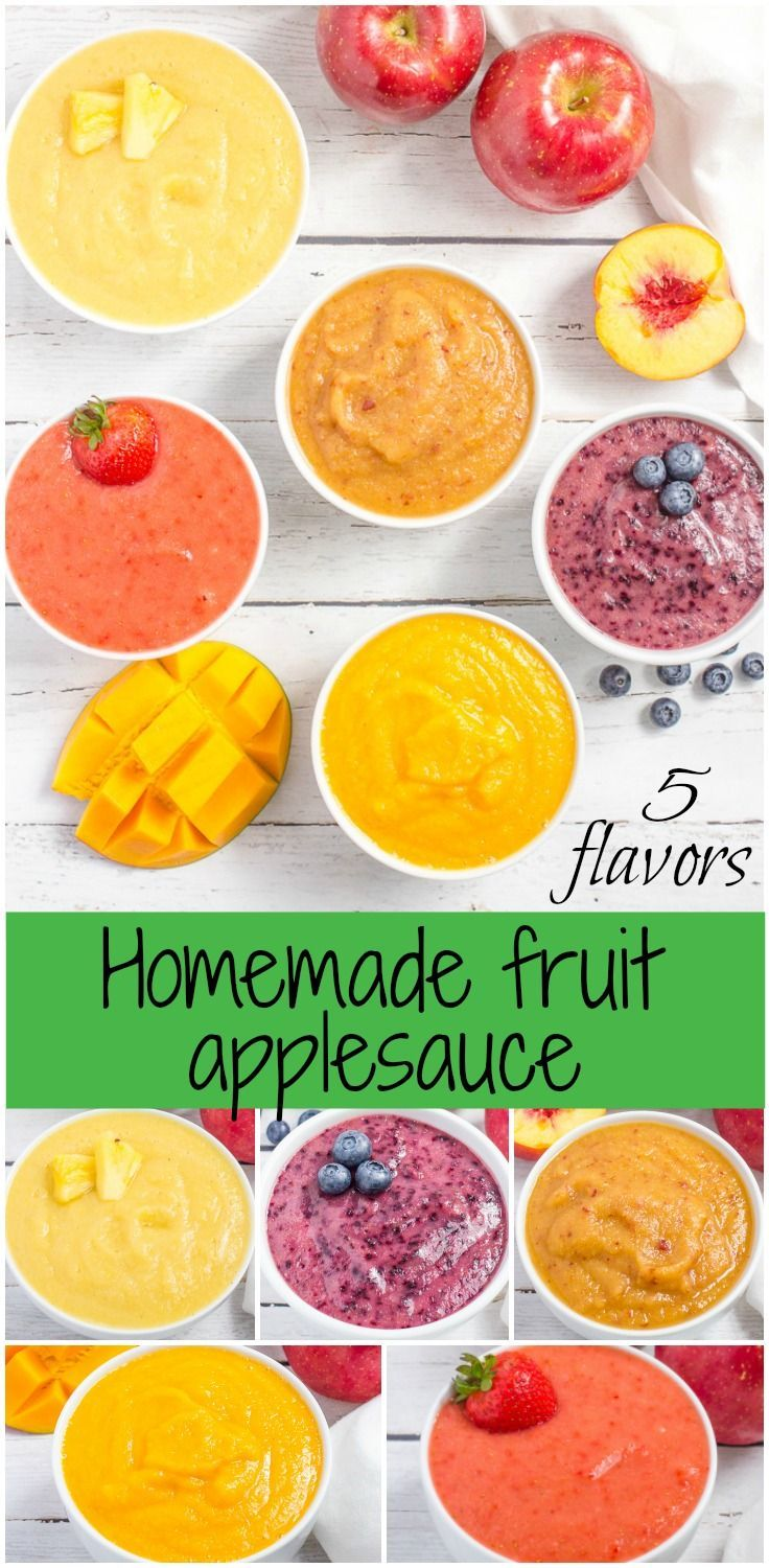 Easy fruit-flavored homemade applesauce makes a great snack for kids and adults (or a wholesome baby food) - 5 flavors and tons of ideas for variations!
