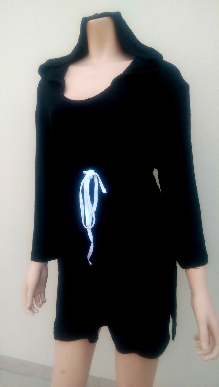 Bamboo Towelling Women or Teens Hooded Beach/Swim Tunic. See full range and order at www.ejkids.com