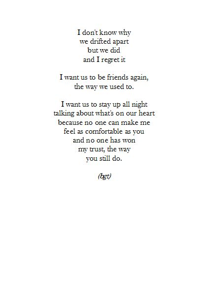 But we will never b friends again, and now I know that for sure.