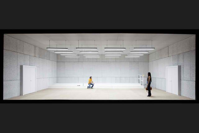 Scene from Cloture de l'amour, written and directed by Pascal Rambert, set by Daniel Jeanneteau, 2011