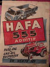 affiche publicité ancienne HAFA 555 camion voiture tracteur