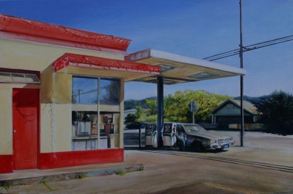 Gas Station California by Georgia Peskett
