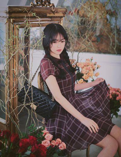 Korean fashion | marsala dress by milkcocoa