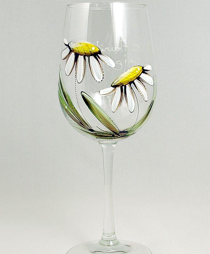 Coupe (490 ml) : : Marguerites  *** Produit peint à la main.