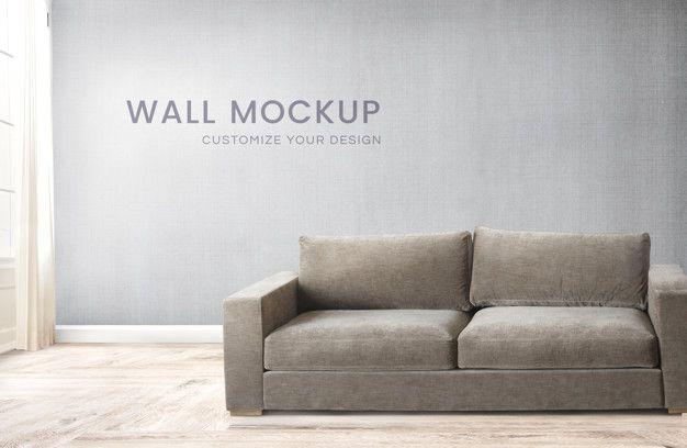 Download Sofa In A Gray Room For Free Parede Cinza Sofa Marrom Quartos Cinzentos