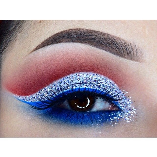 4th of july eye make up