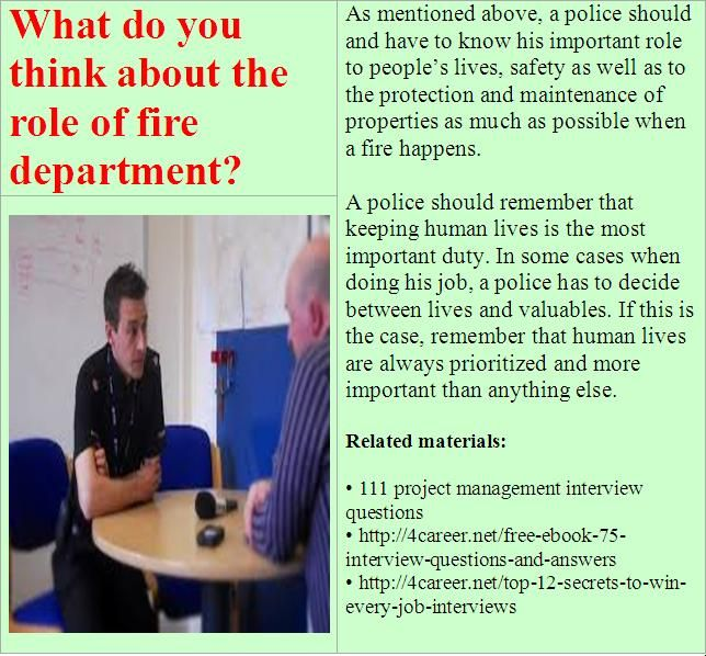 16 best images about police cadet interview questions on Pinterest ...
