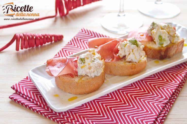 Bruschette zucchine e bresaola - Zucchini bruschetta