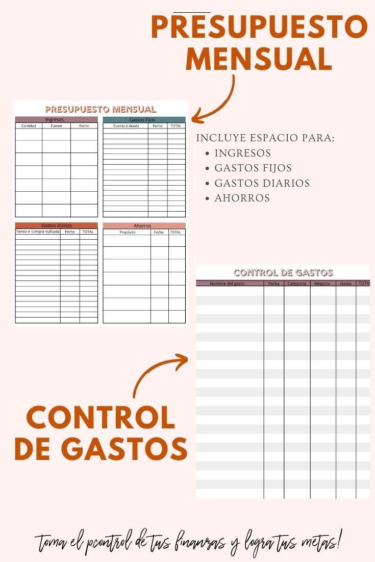 Planificador De Presupuesto Control De Gastos Planificador De Menú Semanal Planificador Lista De Compra Plantillas Imprimibles Routine Printable Office Max