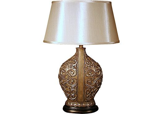 shop for a cindy crawford home amalie lamp at rooms to go find lamps. Black Bedroom Furniture Sets. Home Design Ideas