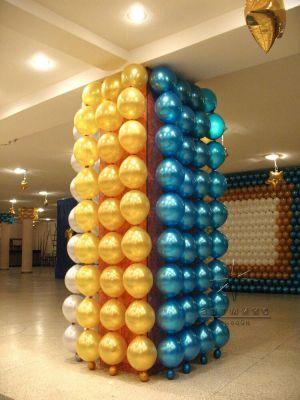 Праздничное оформление колонн шарами