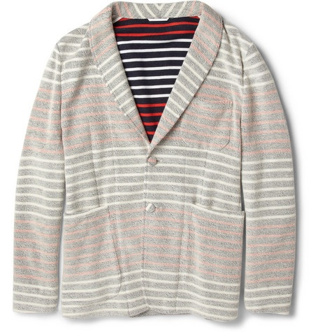 Thom BrowneStriped Cotton-Jersey Blazer