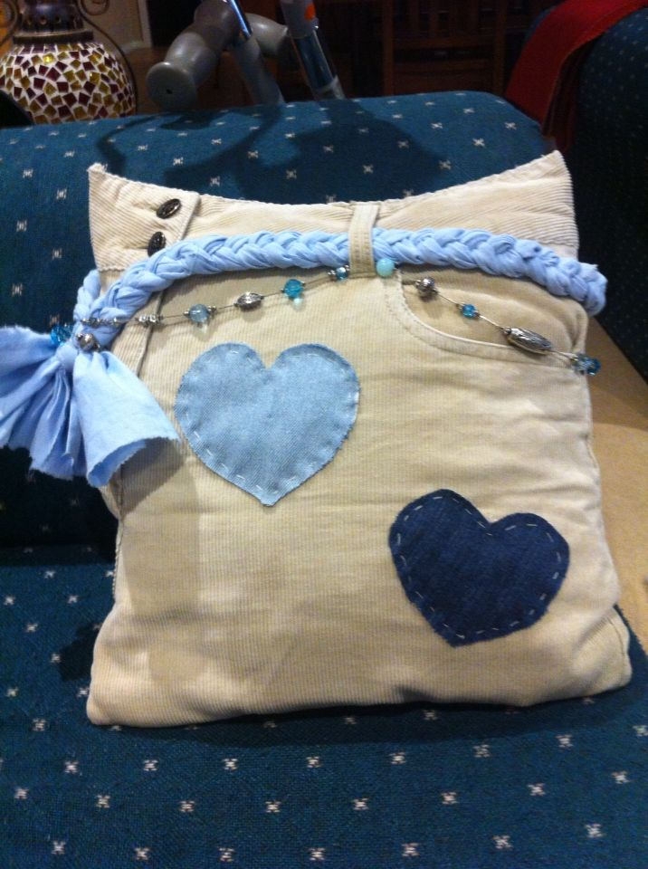 Upcycled cushion cover