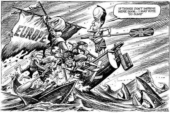 David Cameron's last stand. KAL's cartoon | The Economist 2013-01-25