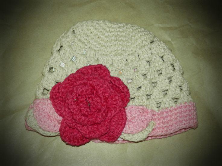 Handmade Crocheted Ella Grace Beanie by Ruffle Butts     http://fairytails.kiwi.nz/collections/girls-hats/products/handmade-crocheted-ella-grace-beanie