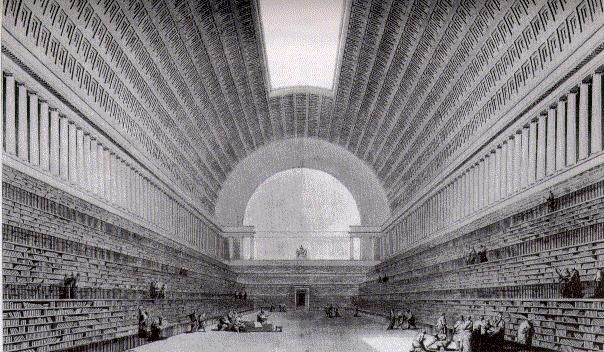 Proyecto para la biblioteca- Etienne louis Boullee