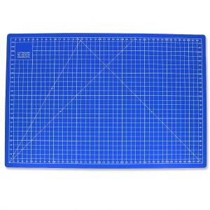 Tapis de découpe auto-cicatrisant recto/verso 30 x 45 cm Bleu x1