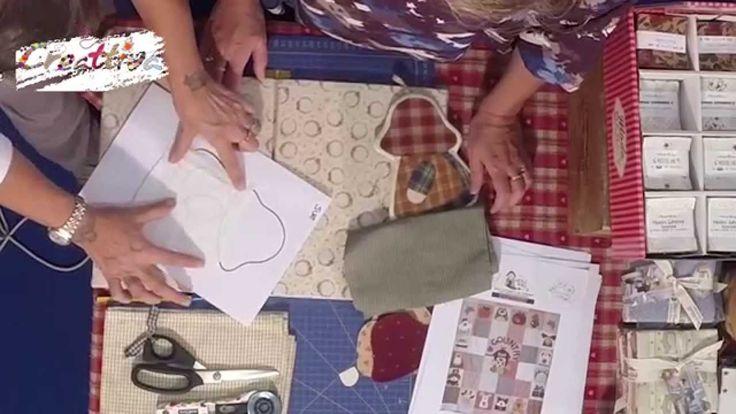 VIDEO #CreattivaChannel Allegre applicazioni in tessuto con Laura Mori