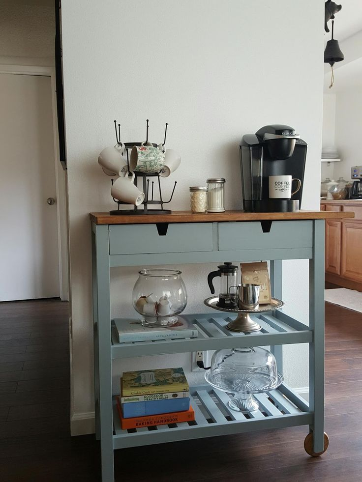 Small Kitchen Cart Coffee Bar