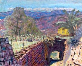 Pierre BONNARD / Paysage du Midi par temps de mistral, ou La tranchée au Cannet, 1922