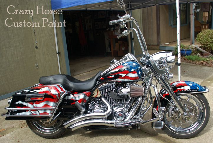 Patriotic Motorcycle Paint Jobs