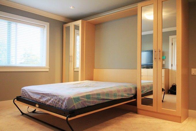 Elegant Twin Murphy Bed Ikea Desk For Better Bedroom