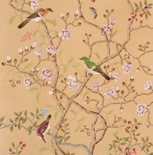 Hand Painted Wall Paper
