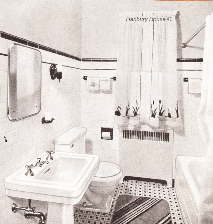 Mid Century Bathroom Tile: 17 Best Images About Black And White Floor Tiles On