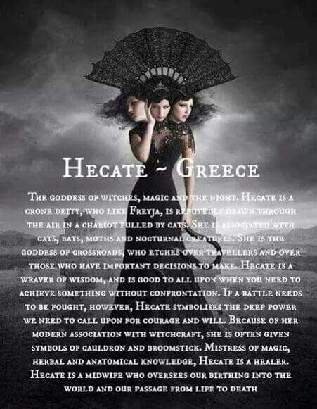 Athena used Hecate's potion to turn Arachne into a spider. Hecate was a Greek goddess often associated with witchcraft.