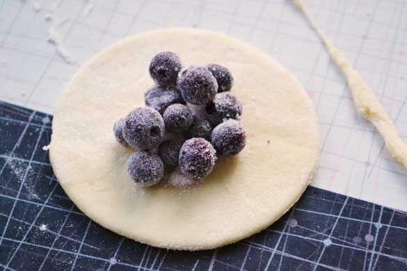 Saskatoon Berry Perogies with Sour Cream
