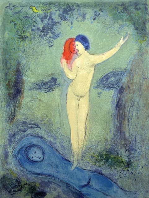 Marc Chagall | Chloe's Kiss (Daphnis and Chloe Suite) (1961) | Available for Sale | Artsy