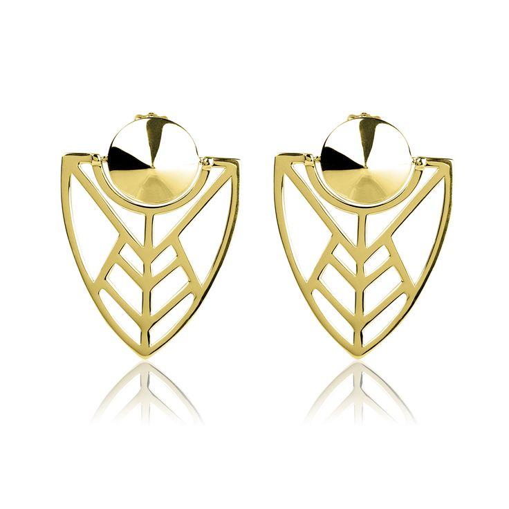 """Boucles d'oreilles """"Orci"""" - Vélizance - Argent doré  #Bijoux #Jewels #Silver #Gold #Design #Tendance #Bijou #FashionJewelry #Velizance"""