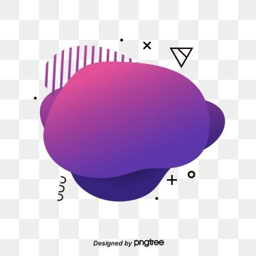 Purple Red Memphis Fluid Label Geometry, Banner Design, Geometric, Graphic PNG and Vector with Transparent Background for Free Download