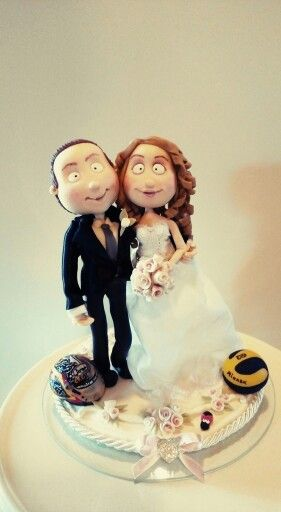 #quisquilie #caketopper #wedding #polymerclay