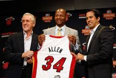 Ray Allen a member of the Heat