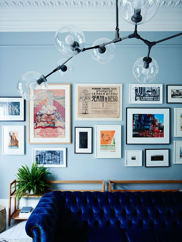 Stained Glass Windows And Soviet Posters Curious Home In Australia With Images Pastel Living Room Blue Walls Living Room Light Blue Living Room