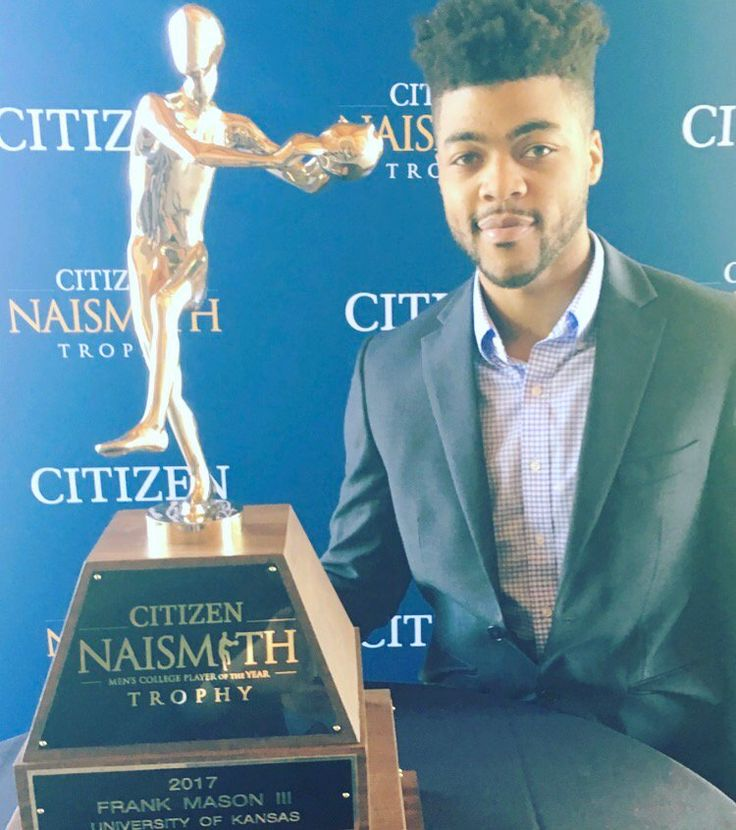 "Kansas Jayhawk Frank Mason III the ""Naismith Player of the Year"" 2017 Award winner (4/2/17)  Rock Chalk!"