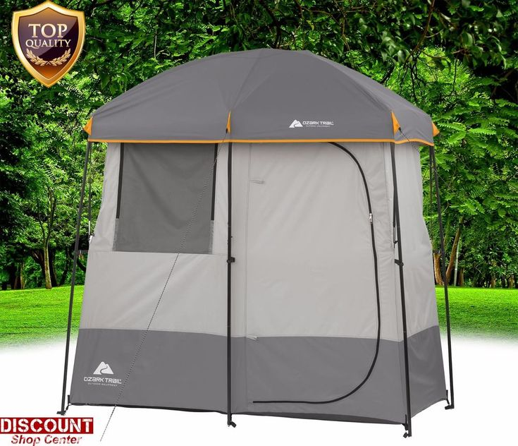 Camping Shower Tent Portable Beach Outdoor Bath Toliet 2 Room Solar Water Heated #OzarkTrail #Beach