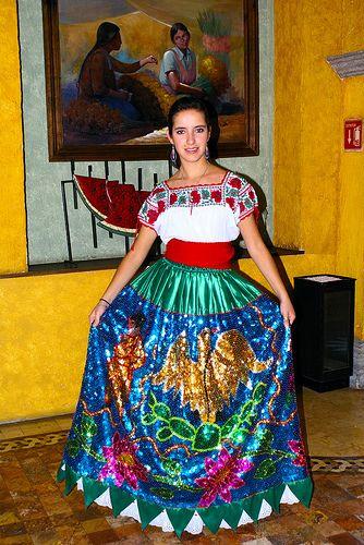Vestido de china poblana.Puebla México.