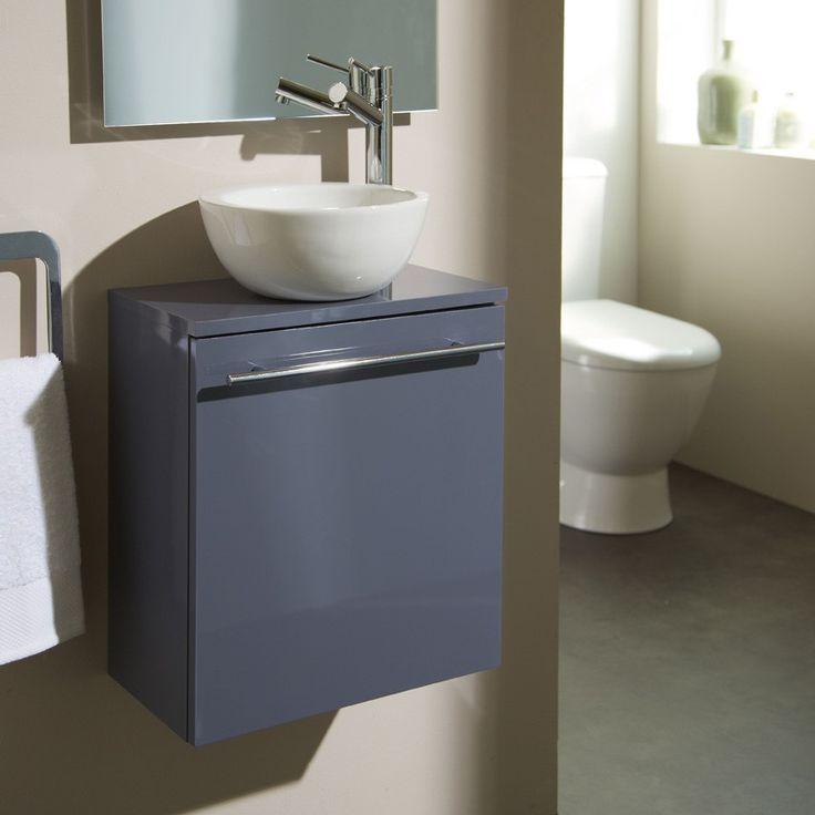 Nouveauté ! Meuble lave-mains bol gris souris #meuble