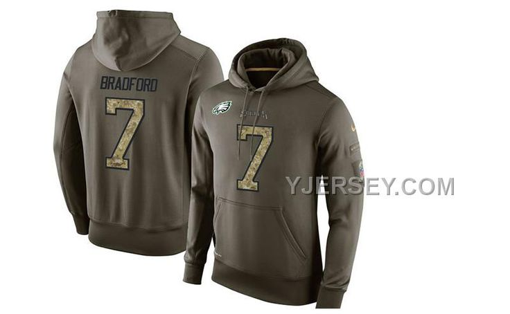 http://www.yjersey.com/hot-nike-eagles-7-sam-bradford-olive-green-salute-to-service-pullover-hoodie.html HOT NIKE EAGLES 7 SAM BRADFORD OLIVE GREEN SALUTE TO SERVICE PULLOVER HOODIE Only $53.00 , Free Shipping!