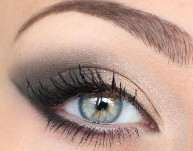 Дневной дымчатый макияж зеленых глаз ::: onelady.ru ::: #makeup #eyes #eyemakeup