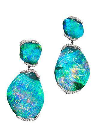Jewelry Obsession: Mimi So 'ZoZo' Boulder Opal Earrings | Jewels du Jour