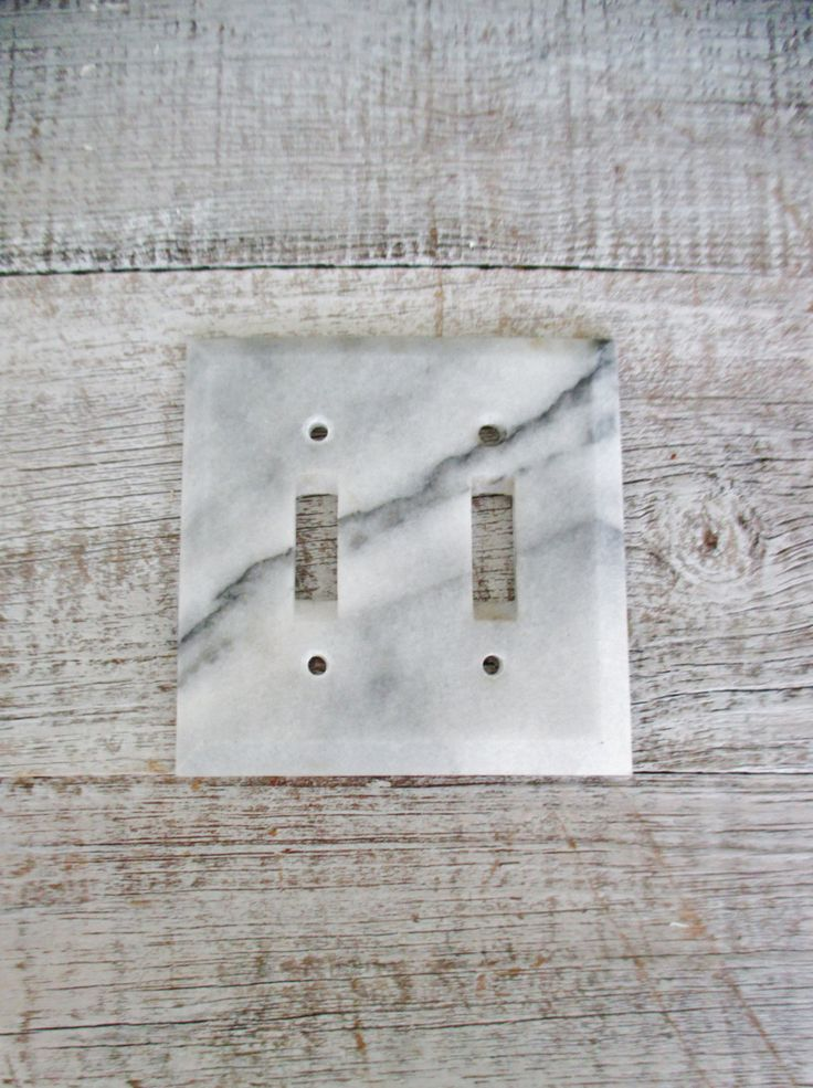 Light Switch Cover Double Marble Light Switch Cover Mid Century Stone Light Switch Plate Vintage Double Light Switch Cover Handcrafted Boho by TheDustyOldShack on Etsy