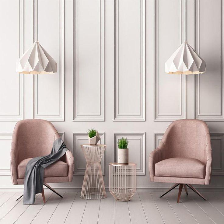 Custom 3D Modern Style Pink Square Frame Pattern Wallpaper Mural (㎡)