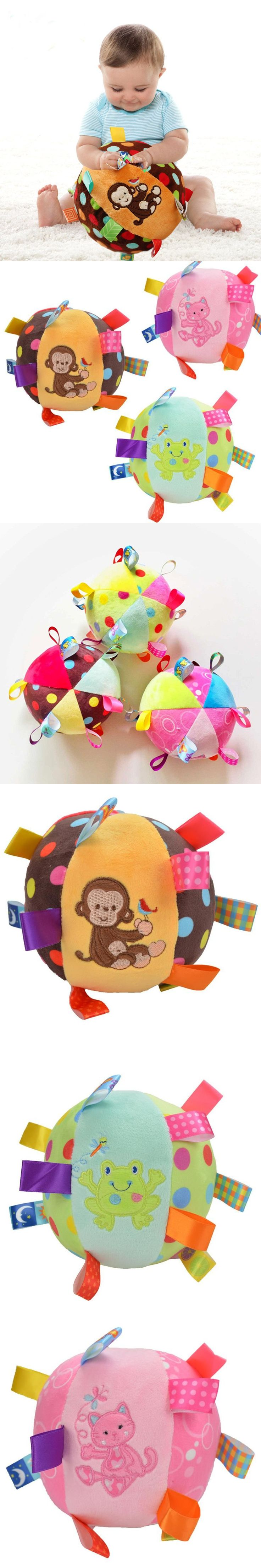 Multicolor Baby Toys Ring Bell Ball Stuffed Toys For Newborns Rattles Educational Cotton Dolls Toys For Babies -- BYC075 PT49 $14.93